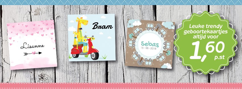 Leuke babykaartjes online gevonden!